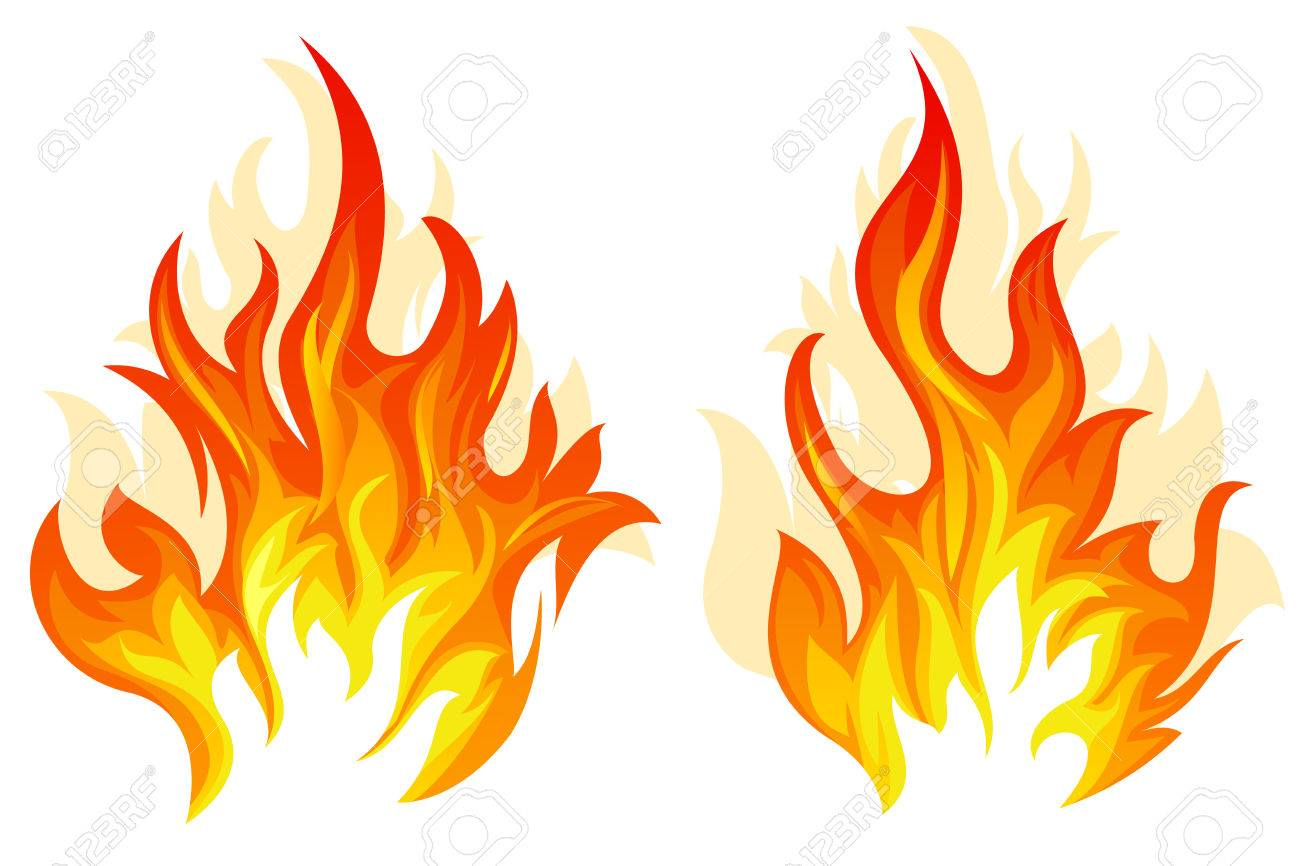 Set of two different flame on white background - 47106117