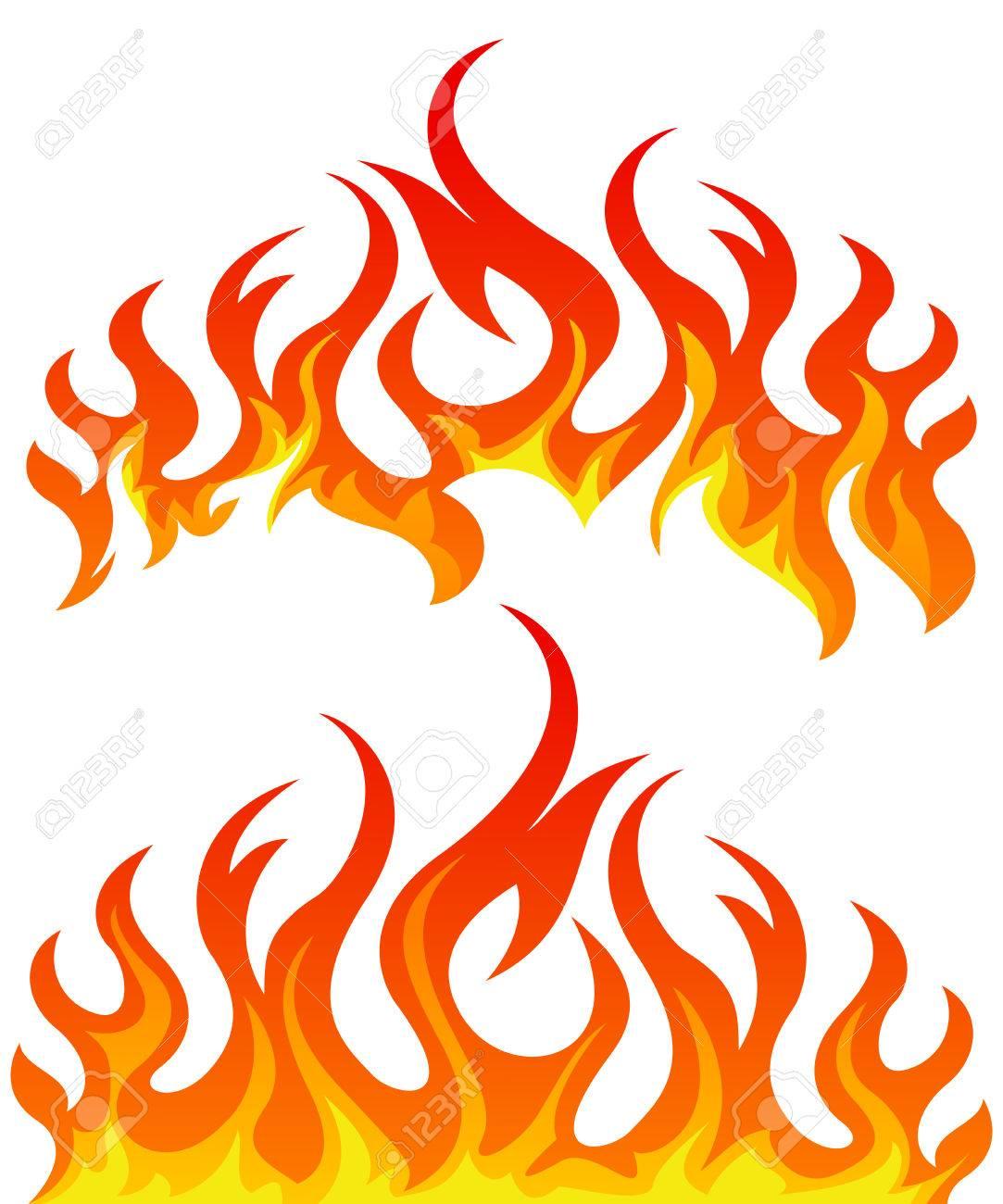 Feuer Flamme Heiß Hitze Brennen Vektor-Grafik Isoliert Illustration  Flammend Lizenzfrei Nutzbare Vektorgrafiken, Clip Arts, Illustrationen.  Image 61126192.