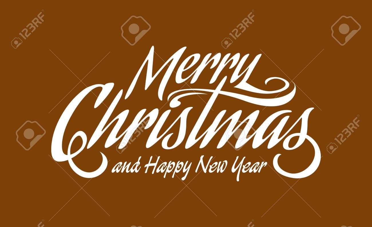 Text Frohe Weihnachten Und Ein Gutes Neues Jahr.Stock Photo