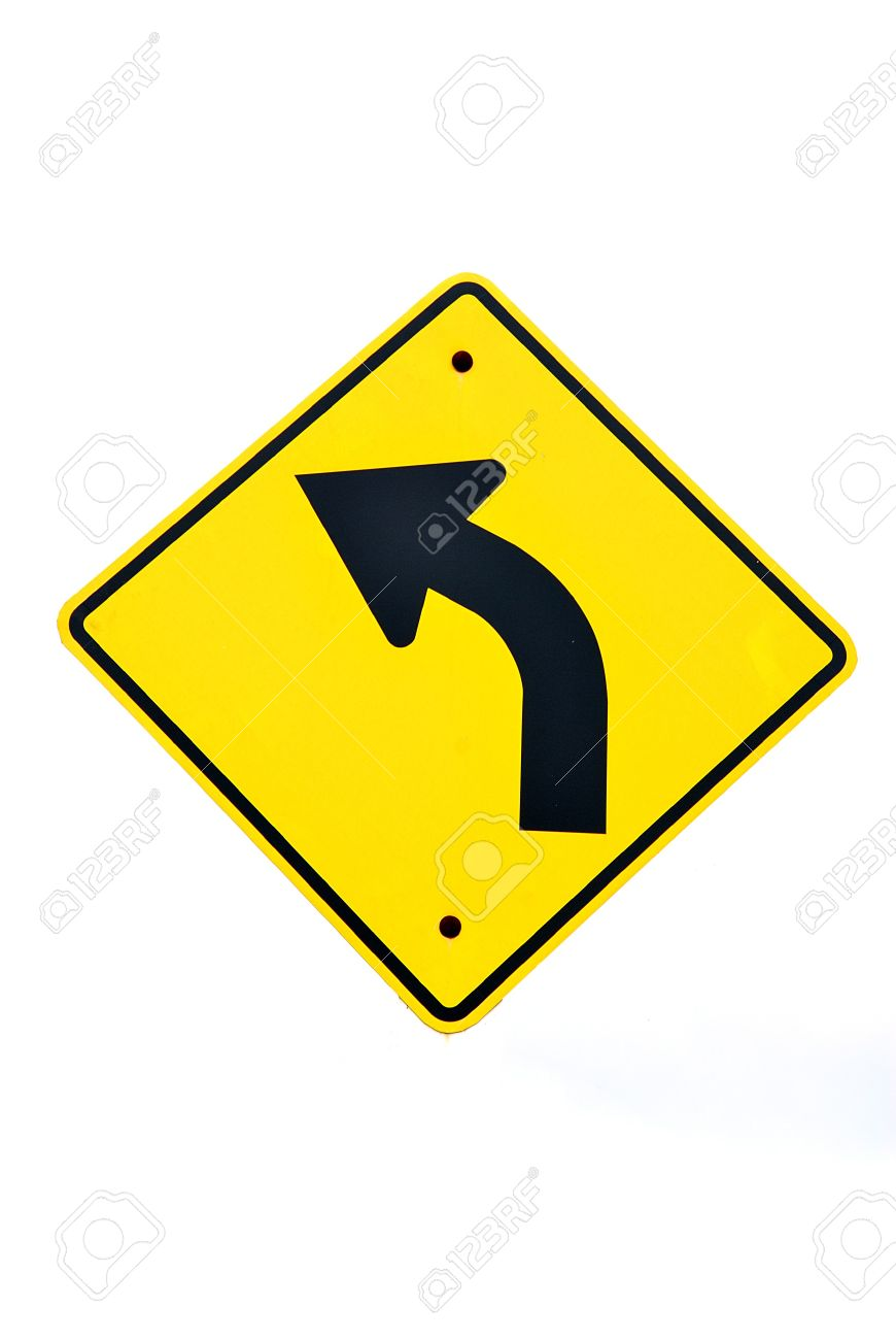 Sharp left sign turn left road sign with white background sharp left sign turn left road sign with white background isolated a buycottarizona Choice Image