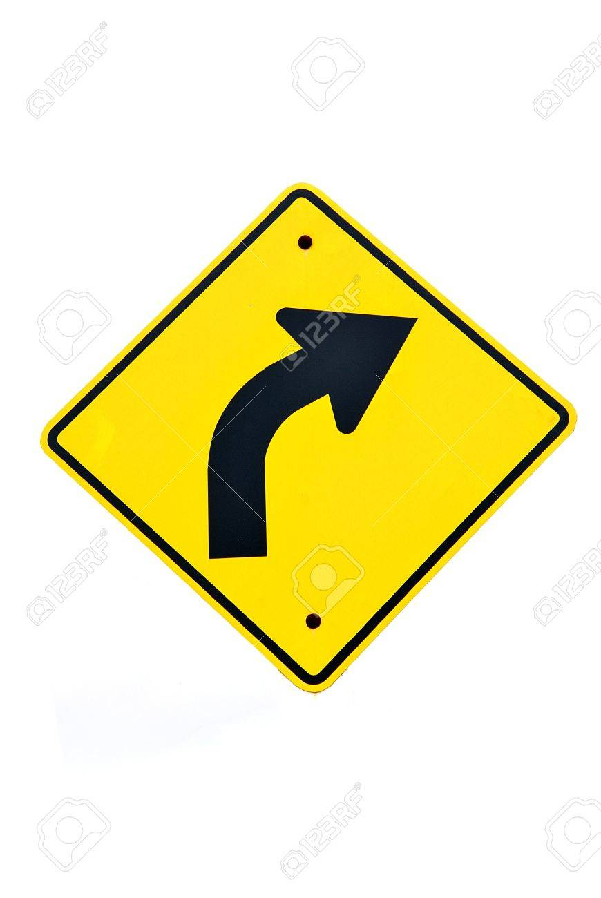 Sharp right sign turn right road sign with white background sharp right sign turn right road sign with white background isolated a buycottarizona Choice Image
