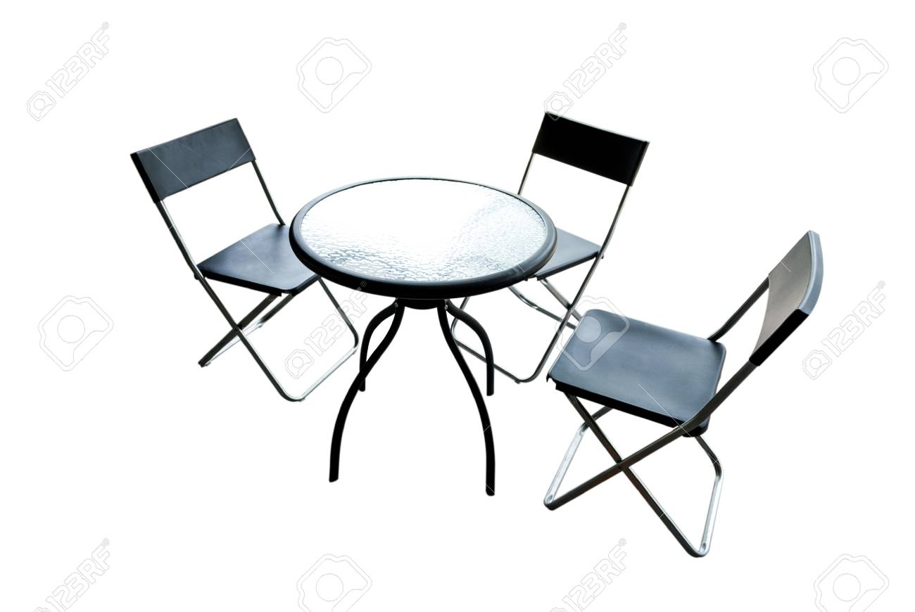 modern interior Table and Chairs isolated on white background Stock Photo - 20726201