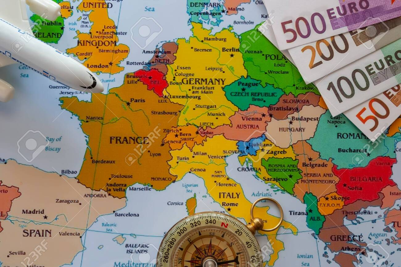 tourist map of europe Tourist Map Of Europe For Travel Stock Photo Picture And Royalty
