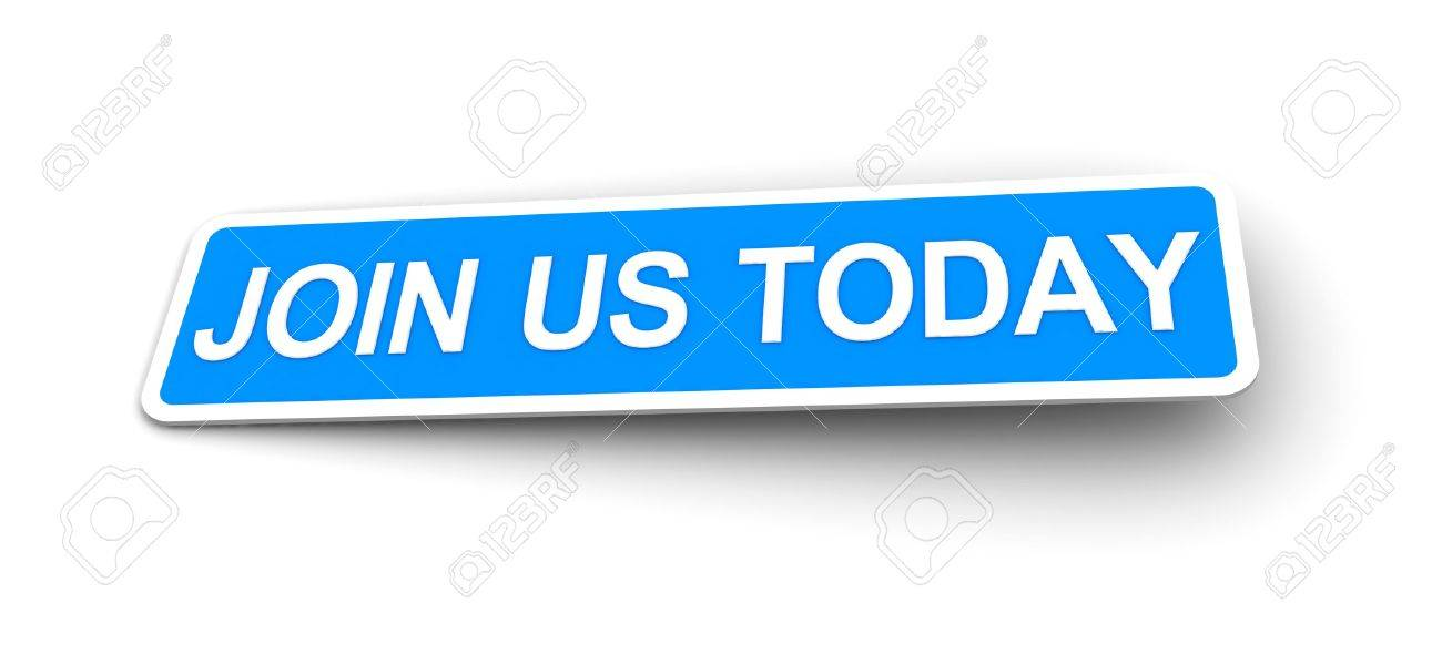labels for the join us today Stock Photo - 8493653