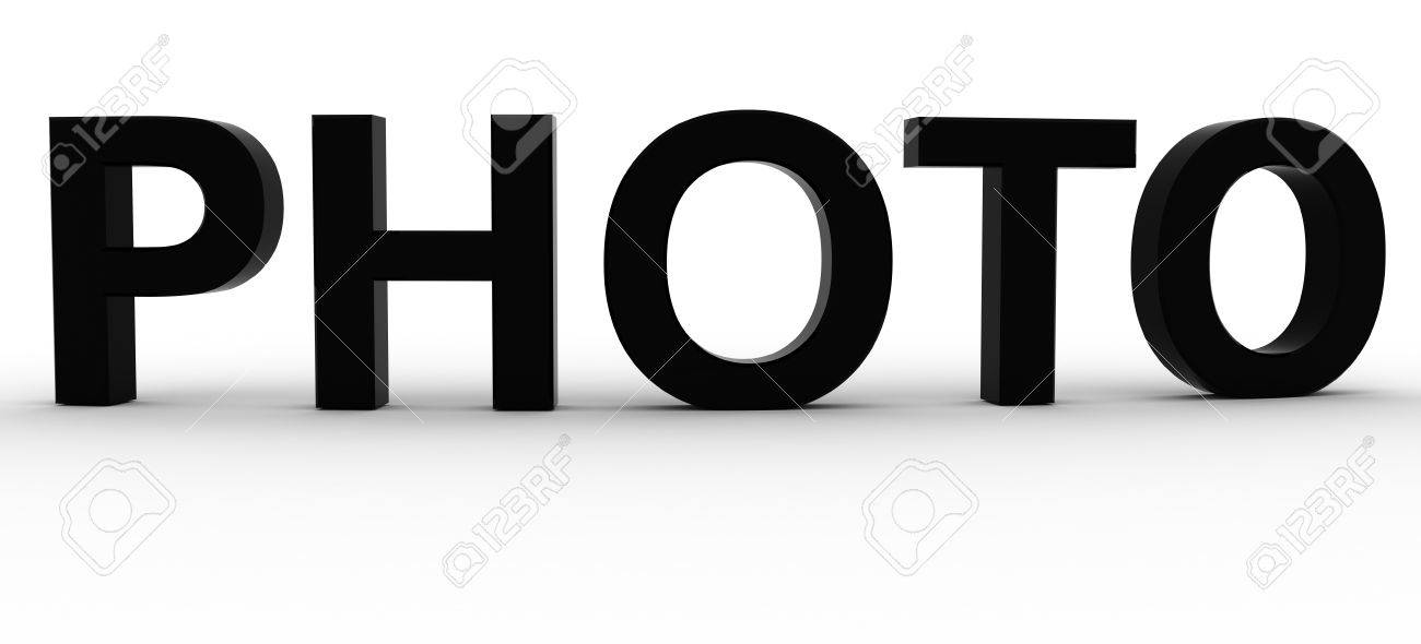 3D Rendered Photo word Stock Photo - 8523179