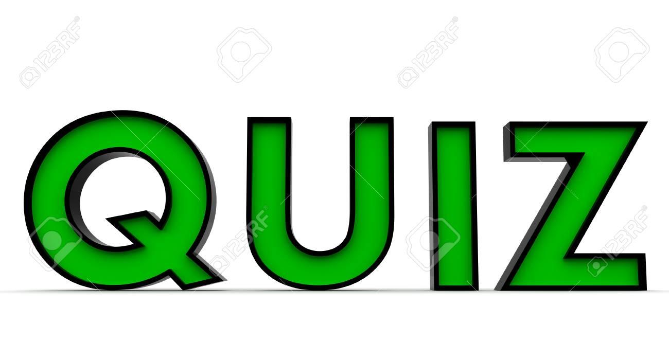 3D Rendered Quiz word