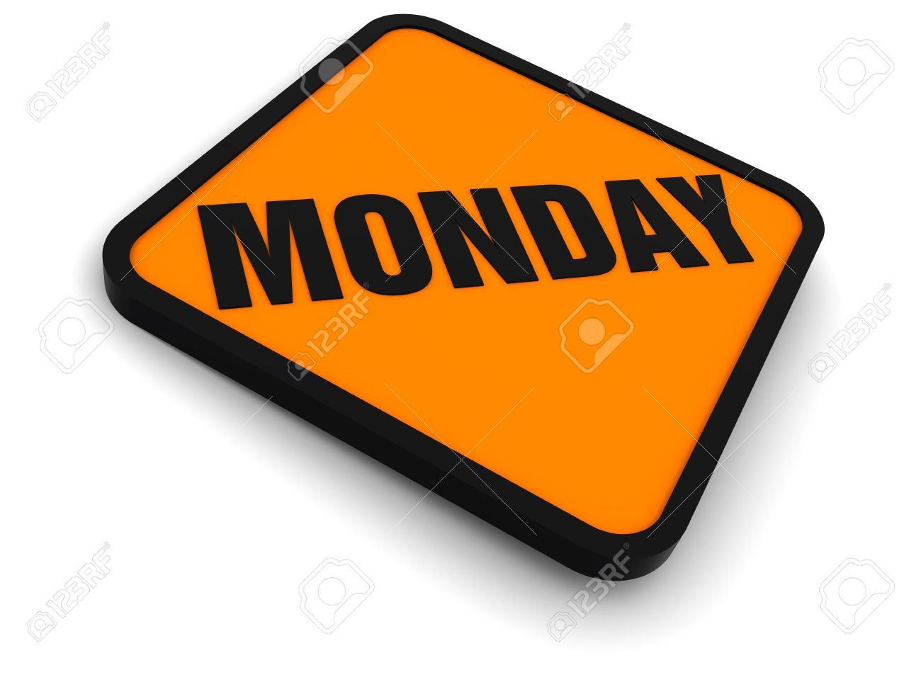Monday Word Sign for the word monday  days