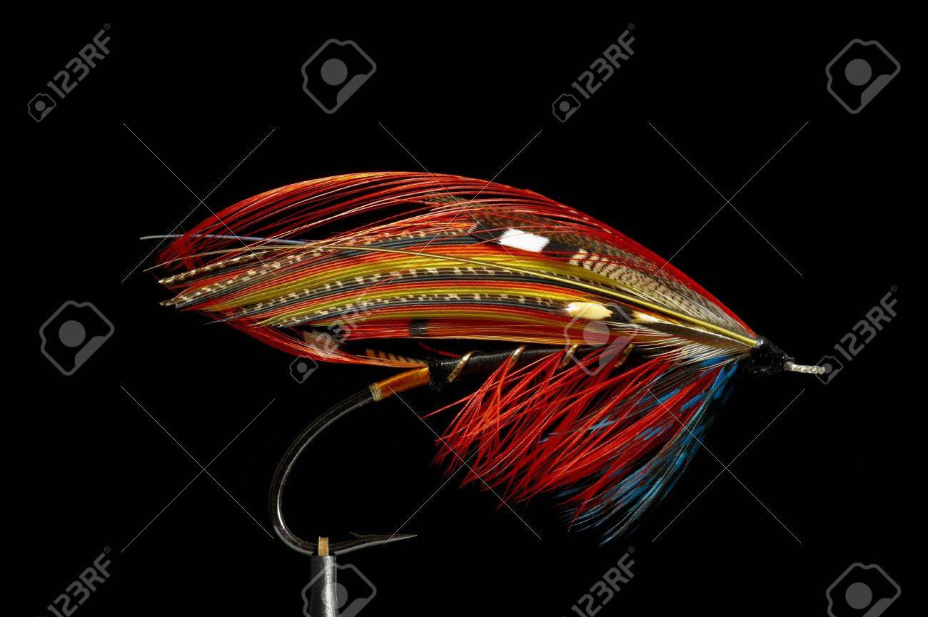 Fly fishing flies / lures for salmon Stock Photo - 8782818