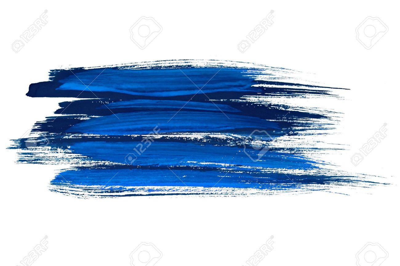 Blue watercolor brush strokes Stock Photo - 9084408