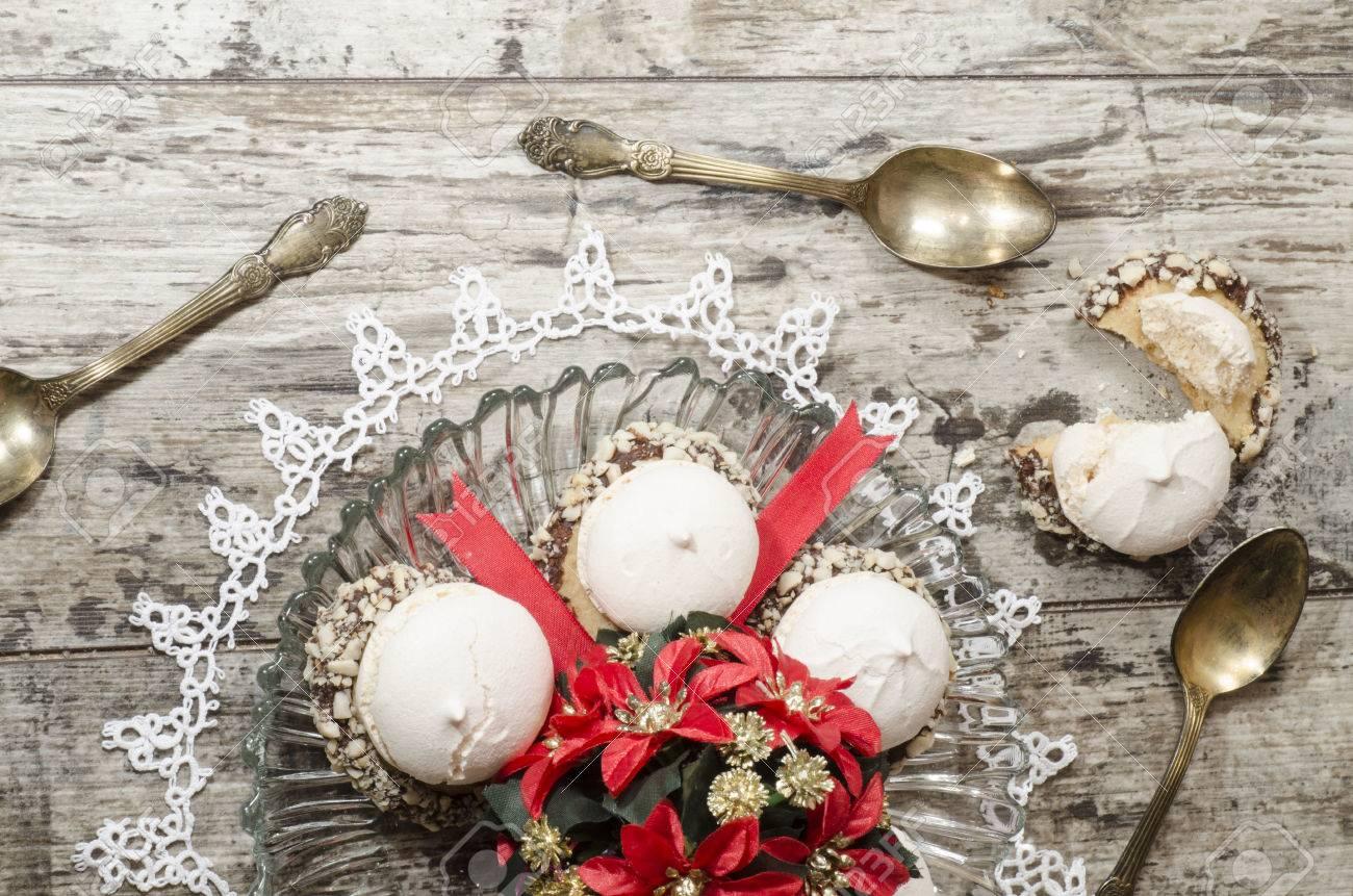 decorazioni di natale con biscotti e nastri dalla serie natale e ... - Decorazioni Con Biscotti