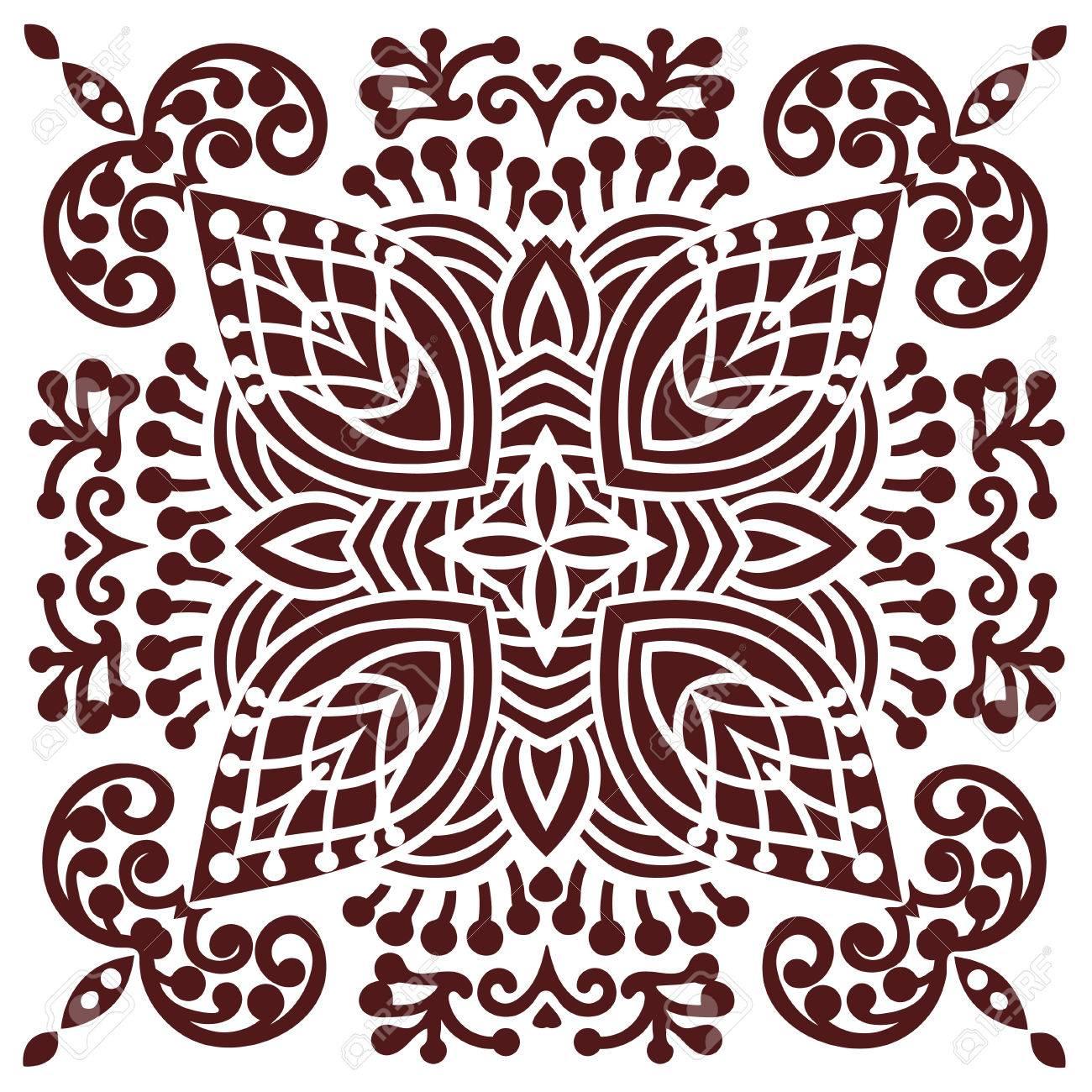 Hand Drawing Zentangle Element In Marsala Color Flower Mandala Vector Illustration The Best