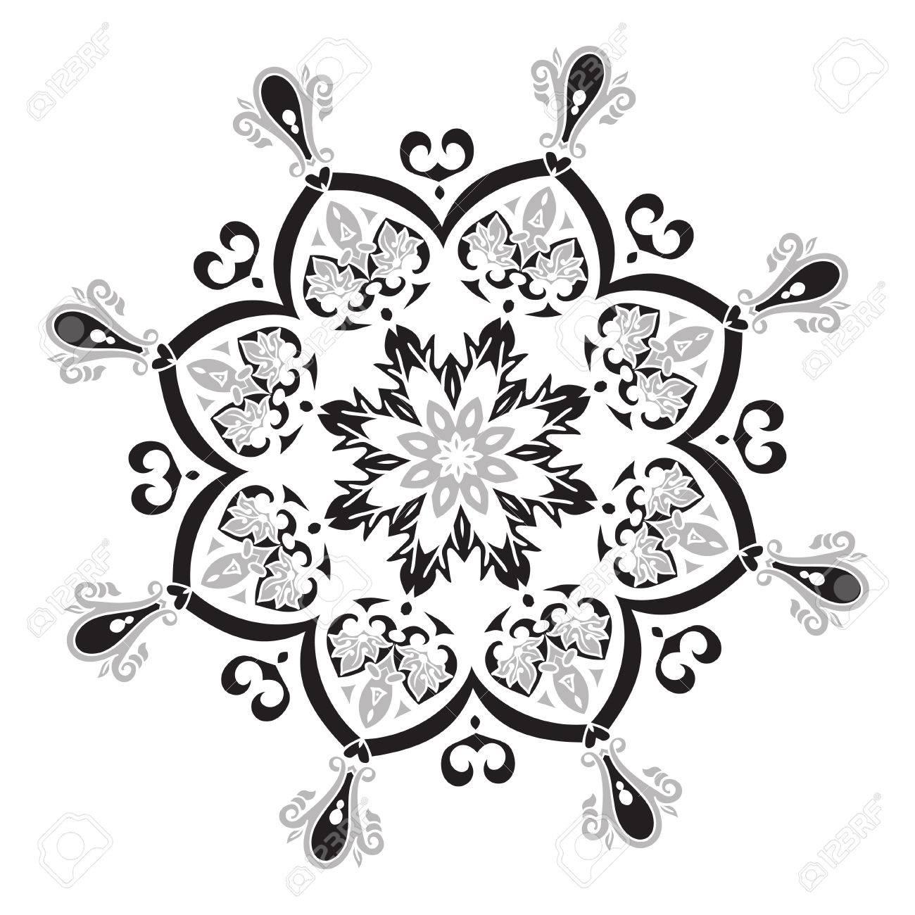 Main Element Dessin Mandala Vector Illustration Le Meilleur Pour