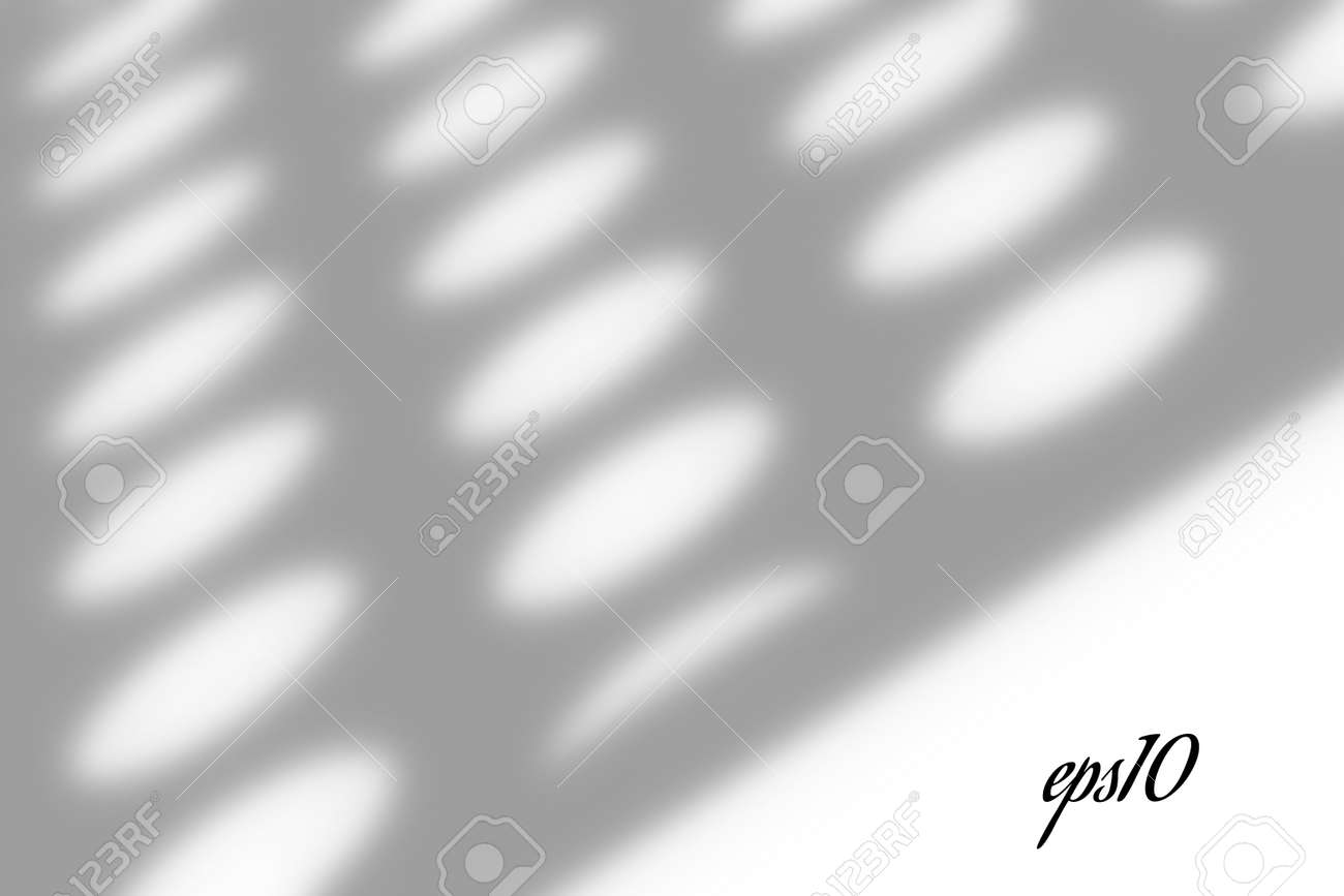 Realistic window shadow. Multiply Overlay effect. Long shadow light on wall or floor. Mesh gradient scenes of natural lighting. Circle perforation. Natural background for design. Illustration - 166280576