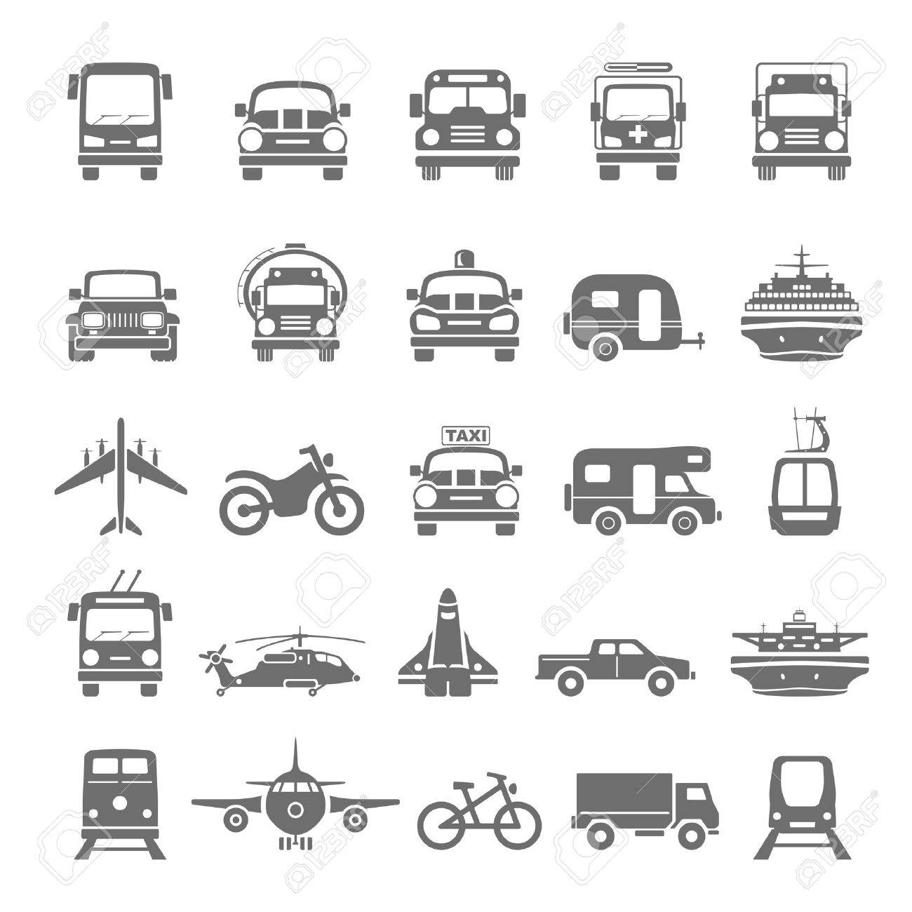 Black Icons  Transportation Stock Vector - 40863042