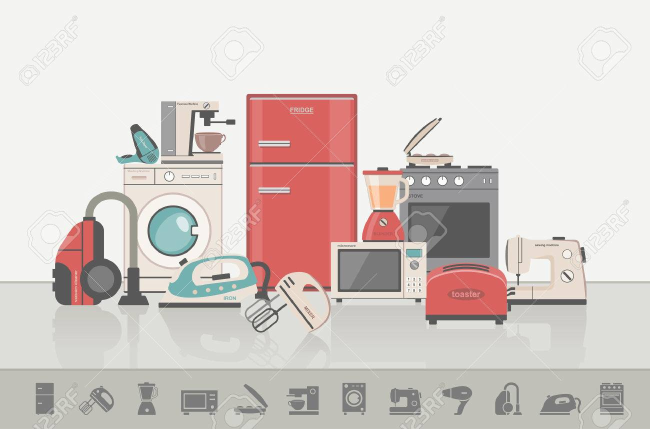Group of household appliances - 41671606