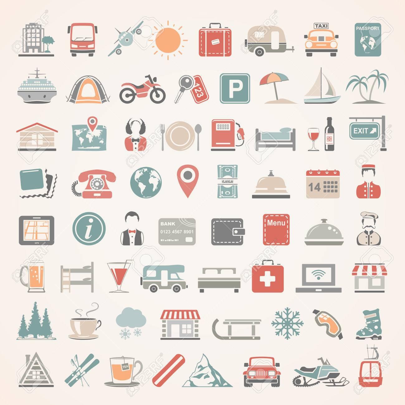 Flat Icons - Travel - 53864171