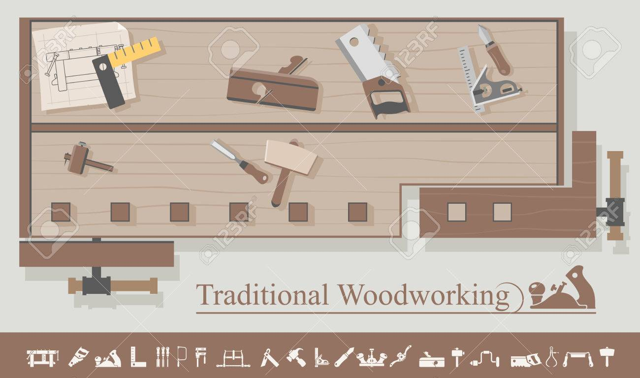 Traditional Woodworking Royalty Free Cliparts Vectors And Stock