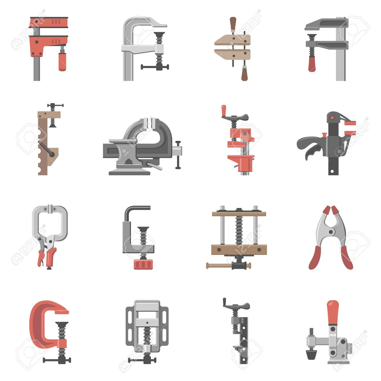 Types Of Clamps >> Sixteen Different Types Of Clamps And Vises