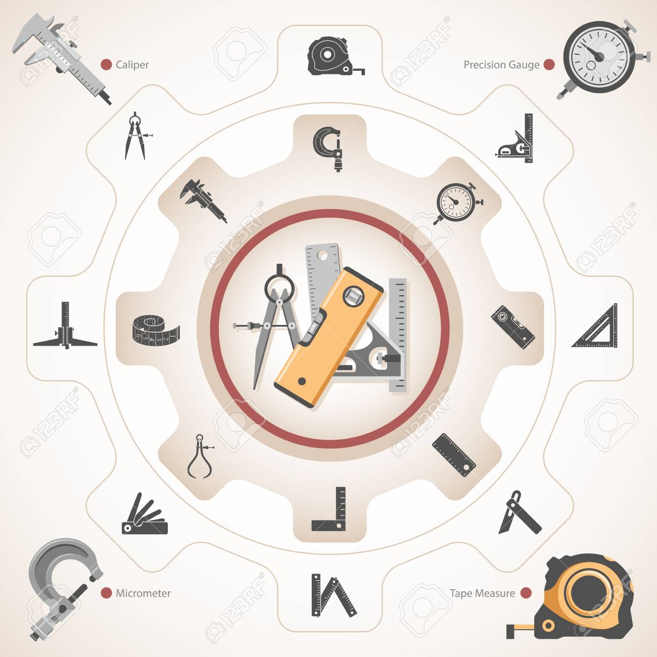 Different Types Of Measuring Tools Royalty Free Cliparts Vectors