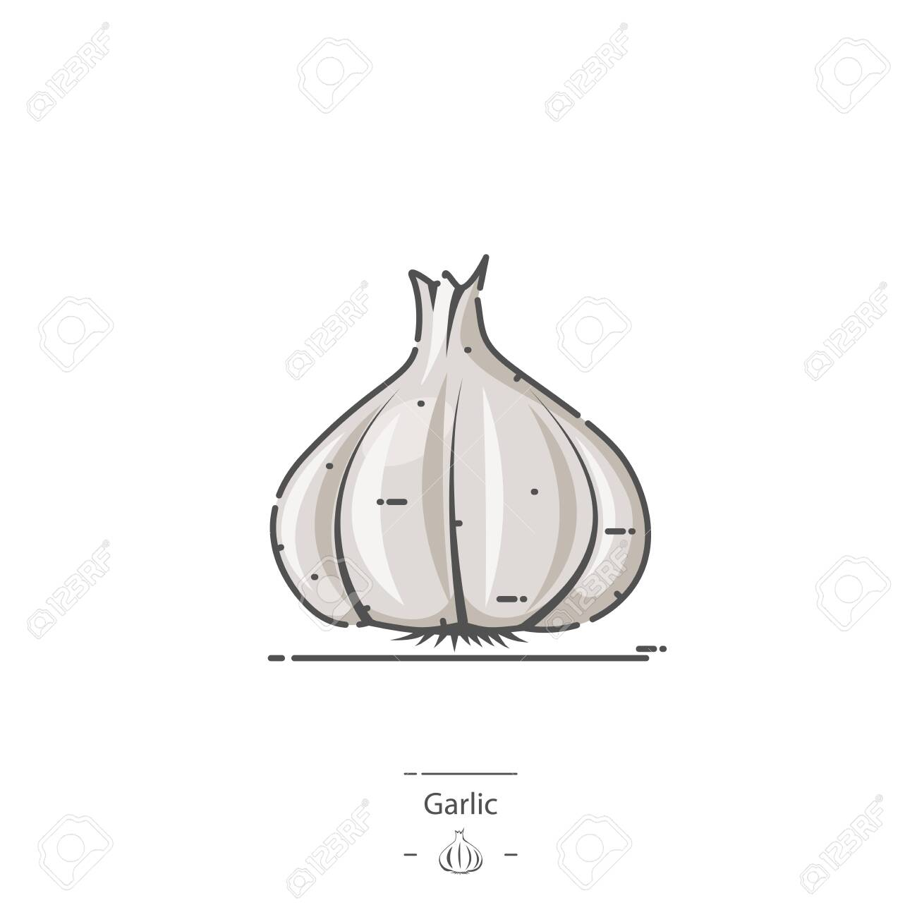 Garlic - Line color icon - 126180339