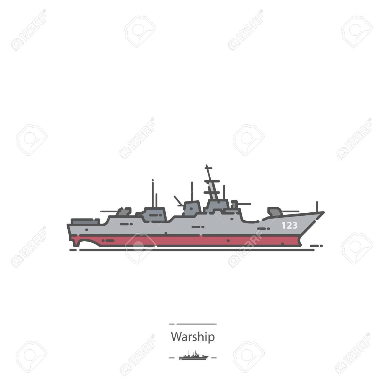 Warship - Line color icon - 137320164