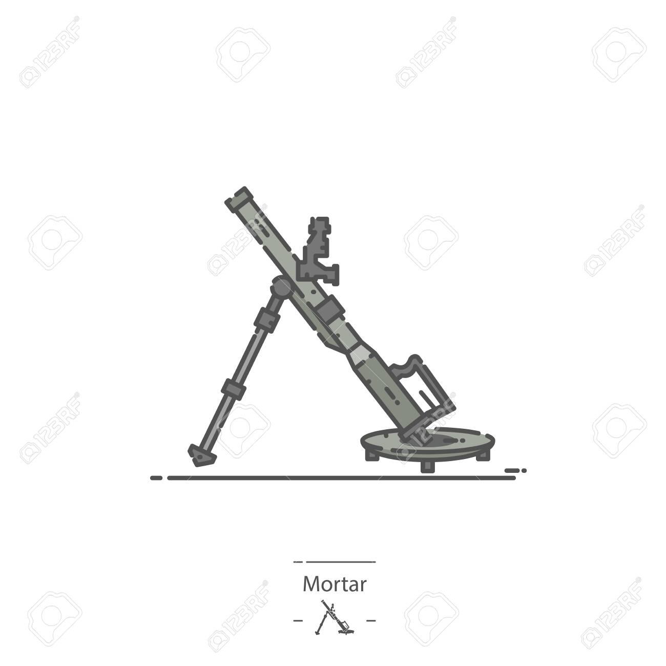 Military Mortar - Line color icon - 135053033