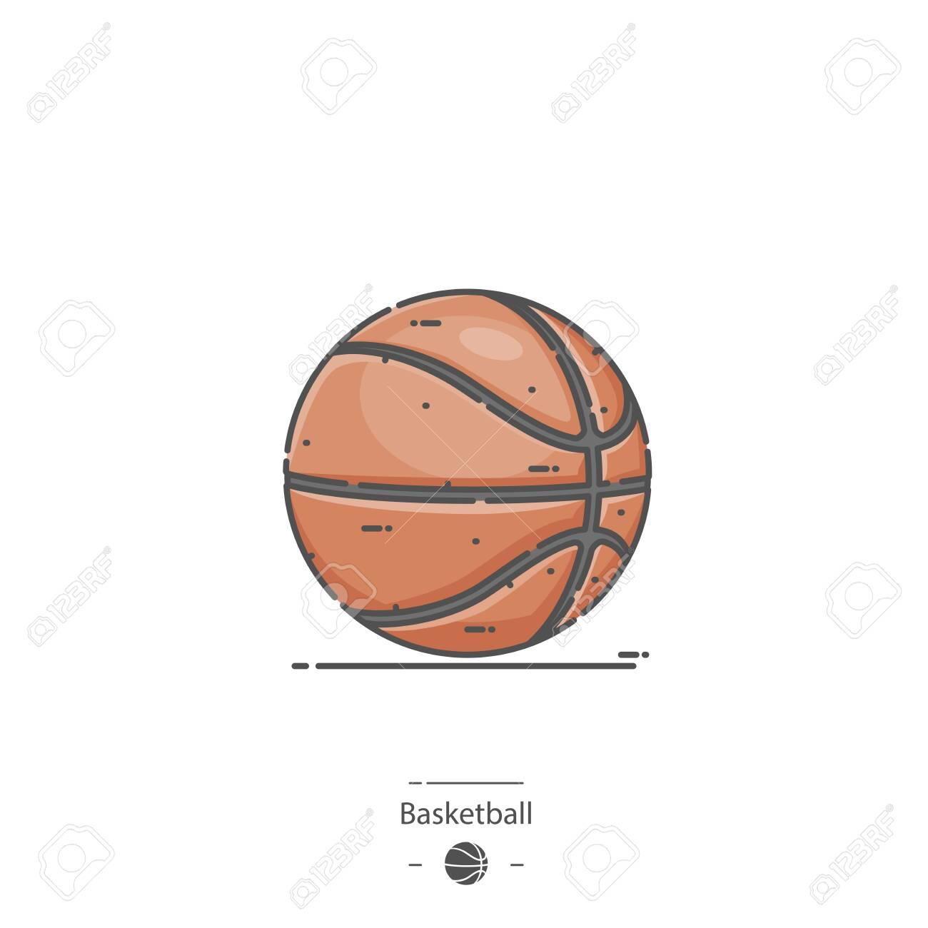 Basketball - Line color icon - 135528435