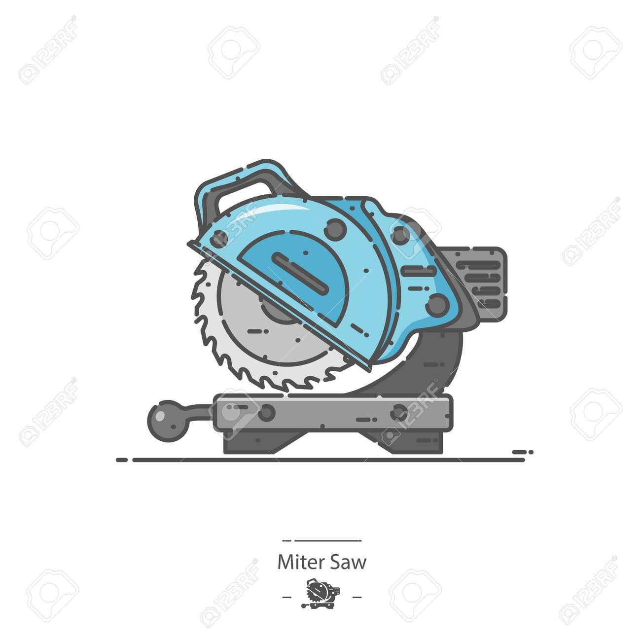 Miter Saw - Line color icon - 170638659