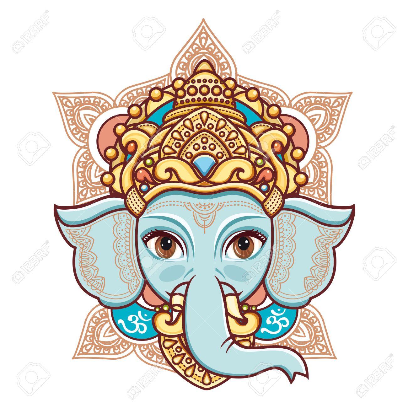 Cabeza De Elefante Ganesh Dios Hindú Señor Hinduismo Feliz Ganesh