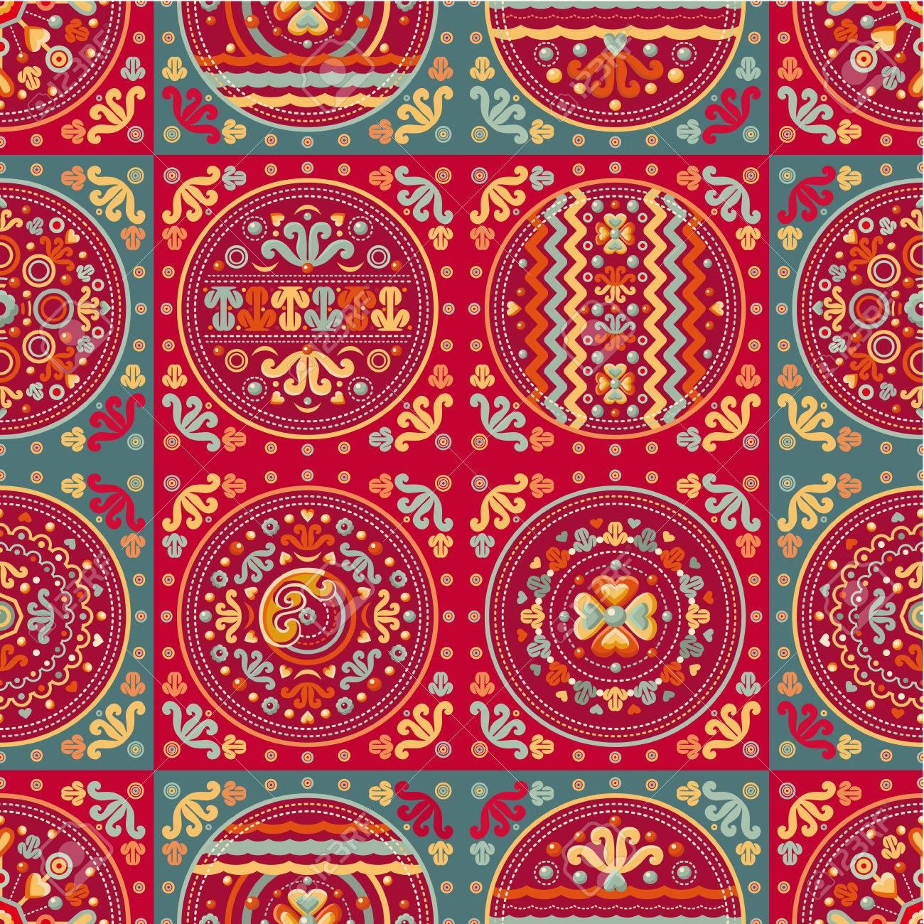 Patrón De Mosaico Sin Fisuras. Estampado Geométrico étnico. Fondos ...