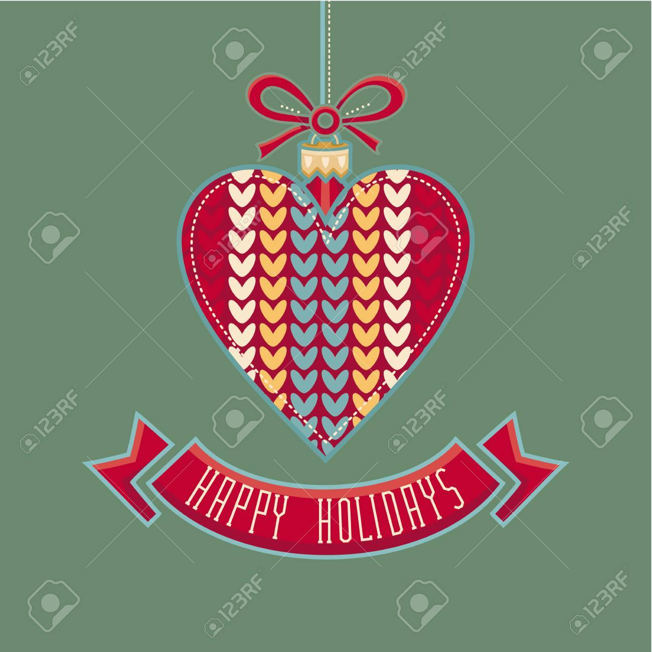 Christmas Card Christmas Greeting Happy Holidays Winter Holiday