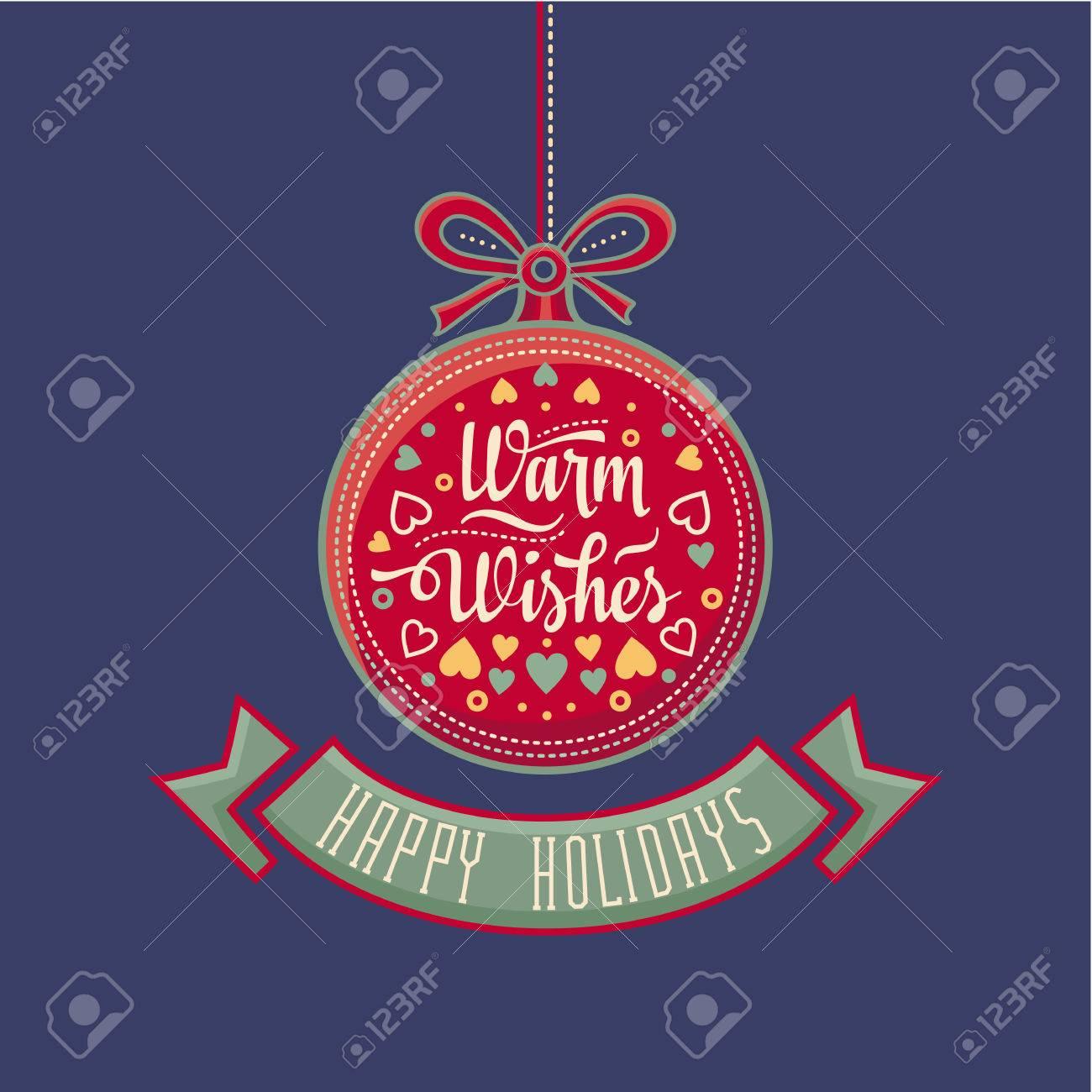 Grußkarte. Frohes Neues Jahr-Nachricht. Frohe Feiertage Wünschen ...