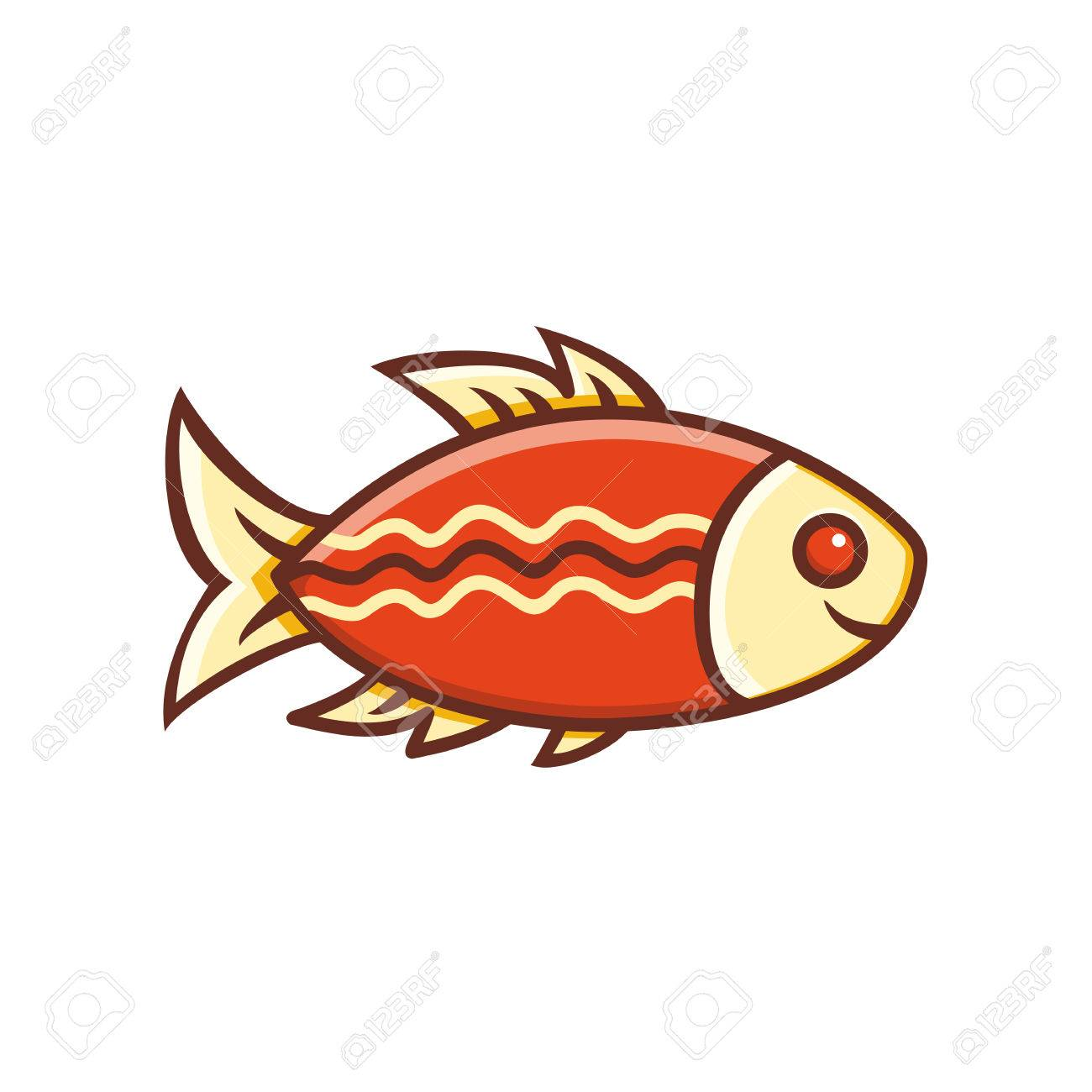 Fish. Fish Icon. Colored Drawing. Royalty Free Cliparts, Vectors ...
