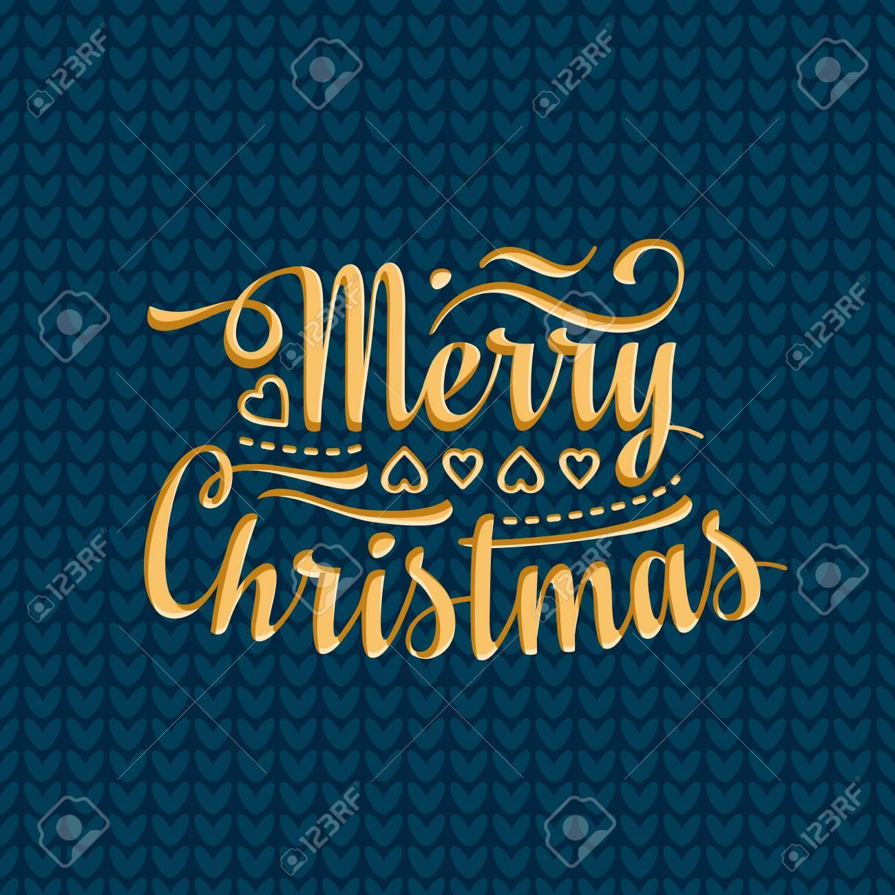 Joyeux Texte De Lettrage De Noël Un Message De Fête Noël Et Nouvel An De Fond Image Vectorielle Pour La Carte De Voeux