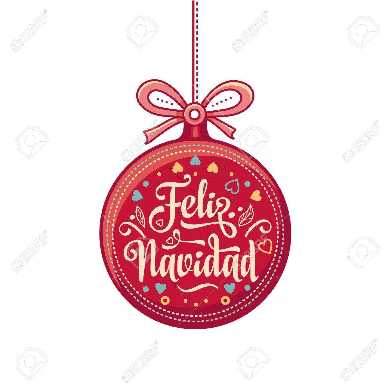 christmas decorations for invitations and greeting cards in spanish