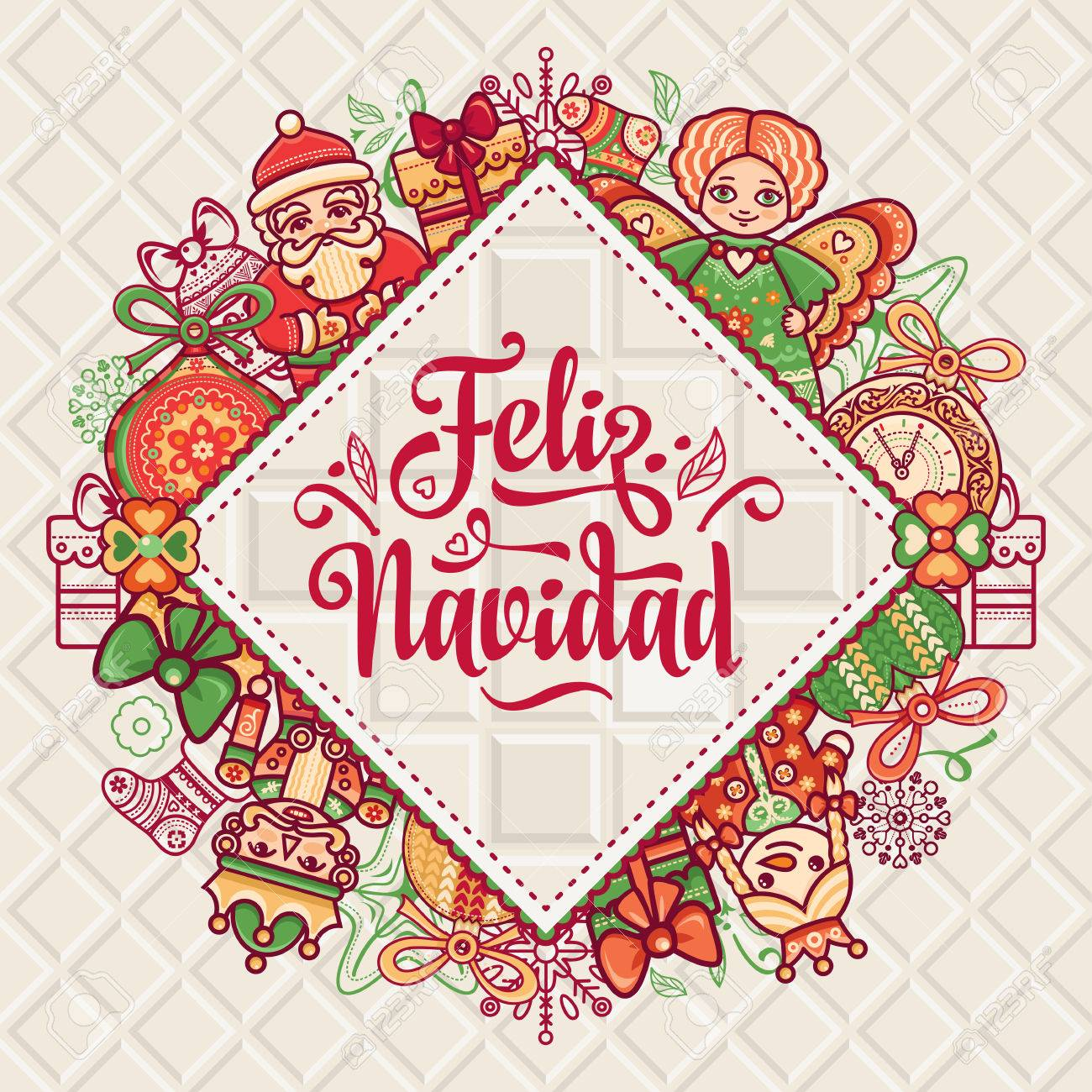 christmas decorations for invitations and greeting cards winter toy feliz navidad xmas card
