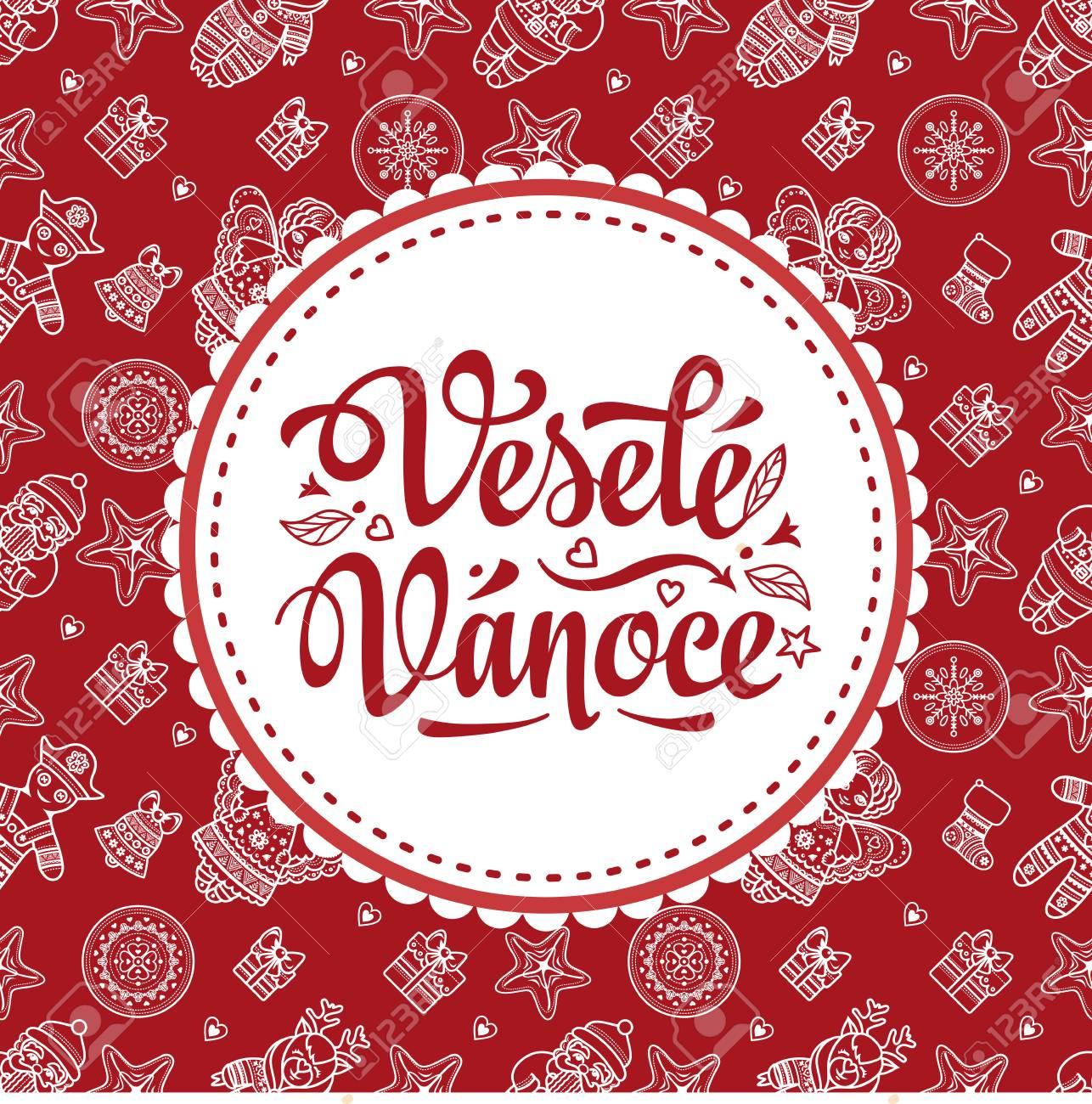 Vesele Vanoce Mensagem De Natal Composição De Letras Com Frase Em Língua Checa Desejos Calorosos Para Boas Festas Melhor Para Cartão Promoção