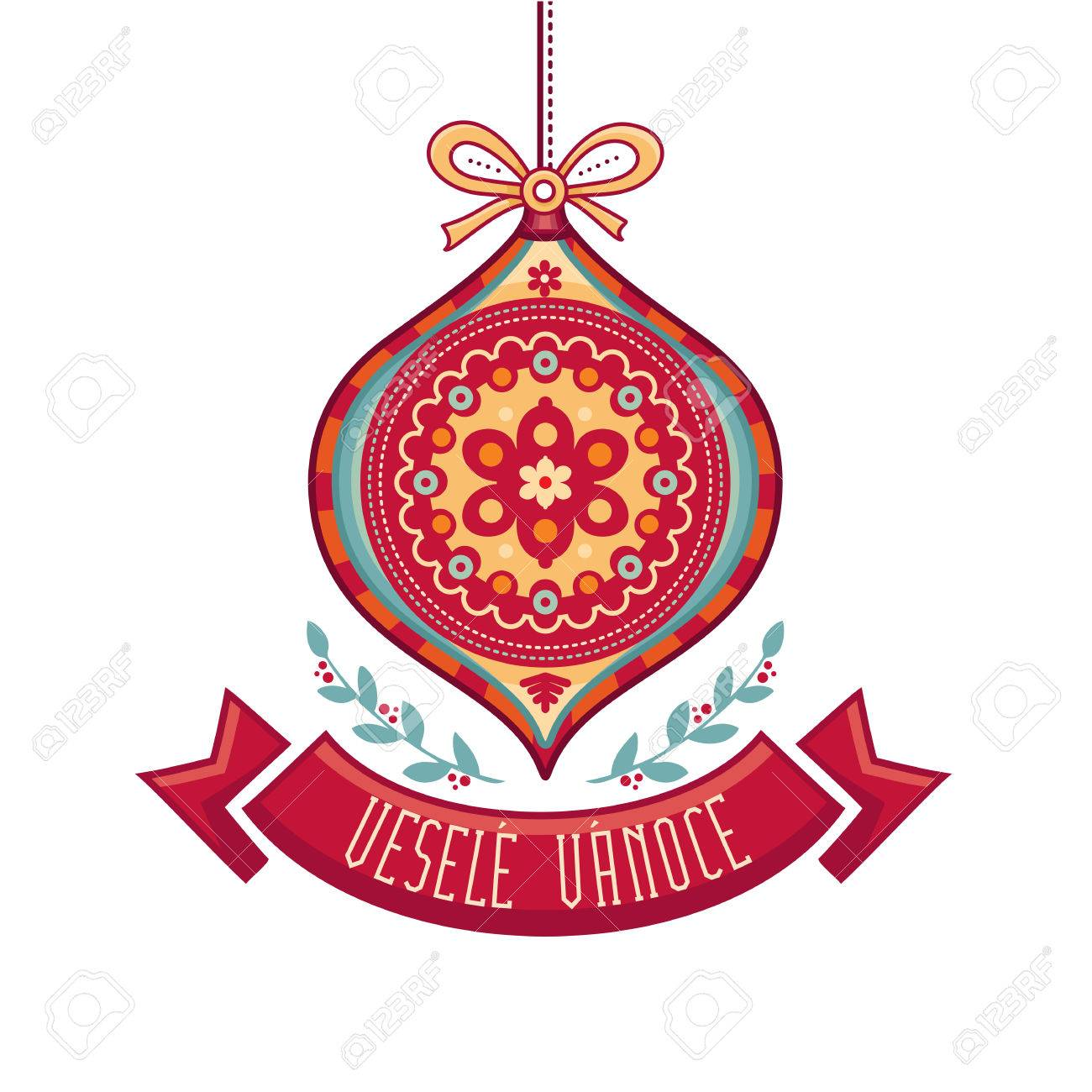 Vesele vanoce christmas message lettering composition with christmas message lettering composition with phrase on czech language warm wishes for happy holidays best for greeting card promotion m4hsunfo