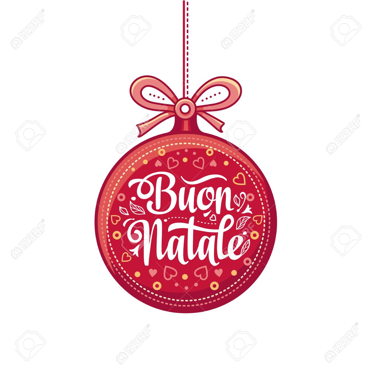 Buon Natale Italia.Buon Natale Christmas Template Greeting Card Winter Holiday Royalty Free Cliparts Vectors And Stock Illustration Image 86209578