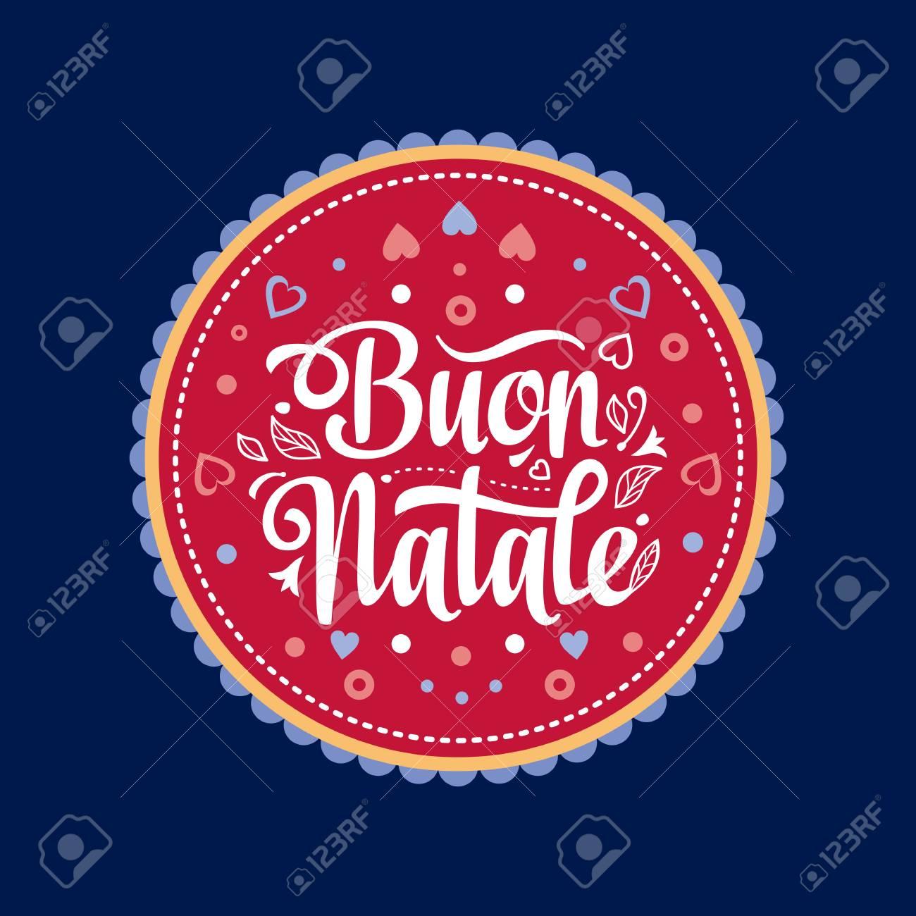 Italian Christmas Music.Buon Natale Christmas Template Greeting Card Winter Holiday