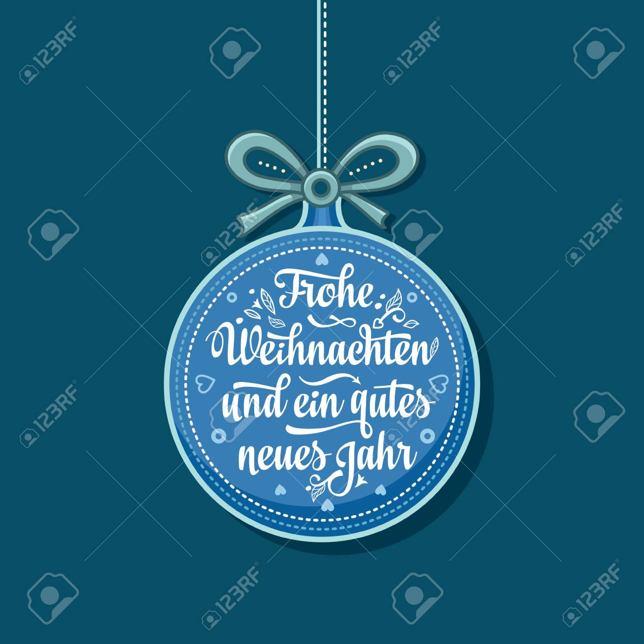Frohe Weihnachten Schweiz.Stock Photo
