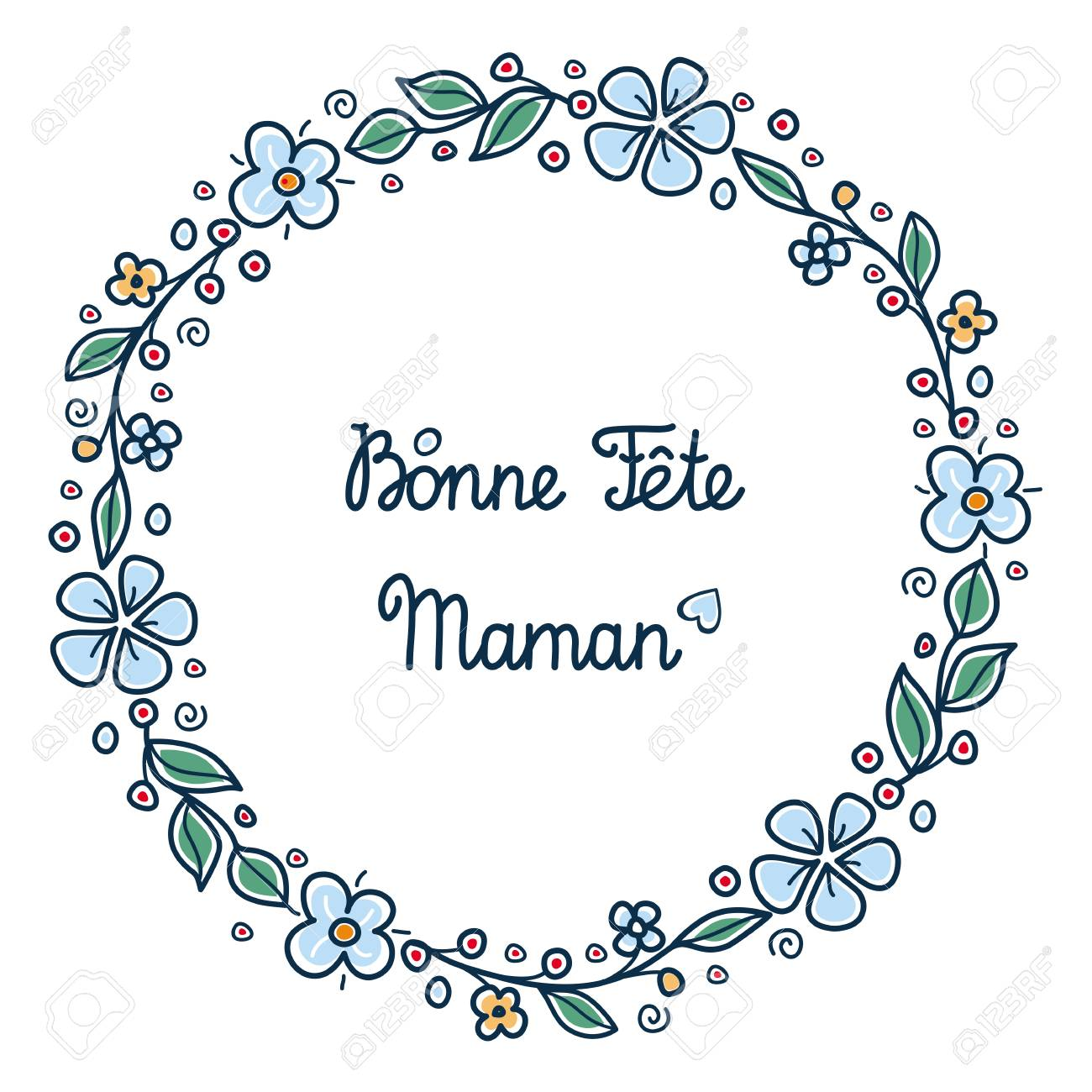 Happy Mothers Day Greeting Card In French English Translation