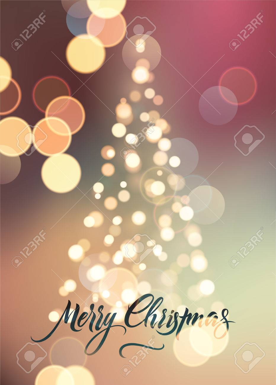 Auguri Di Buon Natale Eleganti.Vettoriale Buon Natale Design Retro Calligrafico Biglietto Di