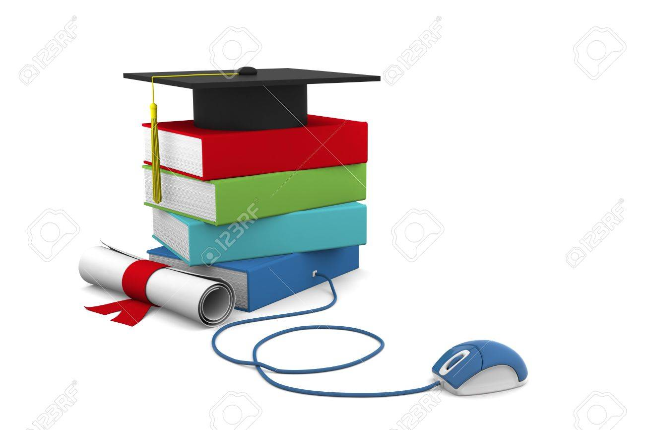 On line Univesity concept. Distance Learning Courses and Degree. Stock Photo - 8403228