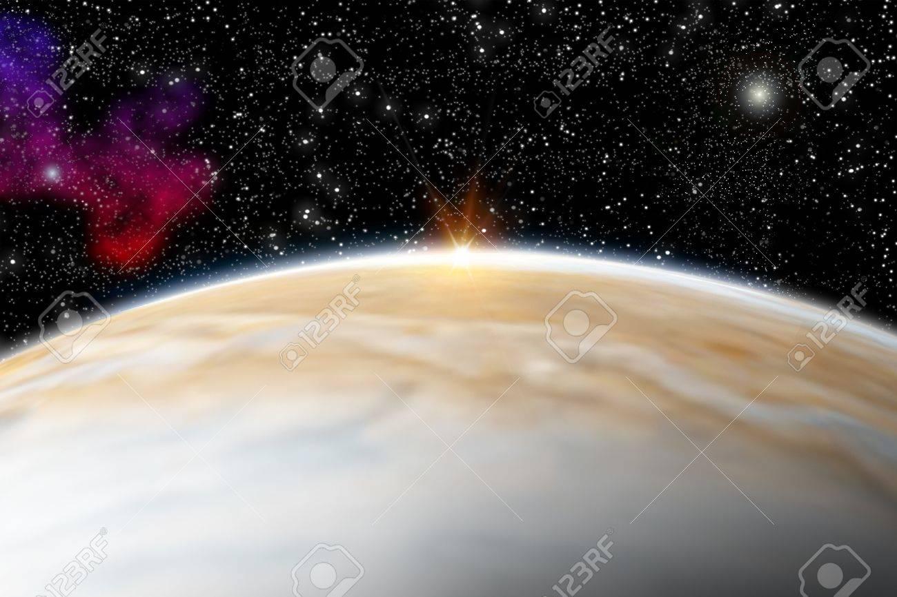 Illustration of the planet jupiter - 3D REnder Maps from http   planetpixelemporium com Stock Illustration - 14978216