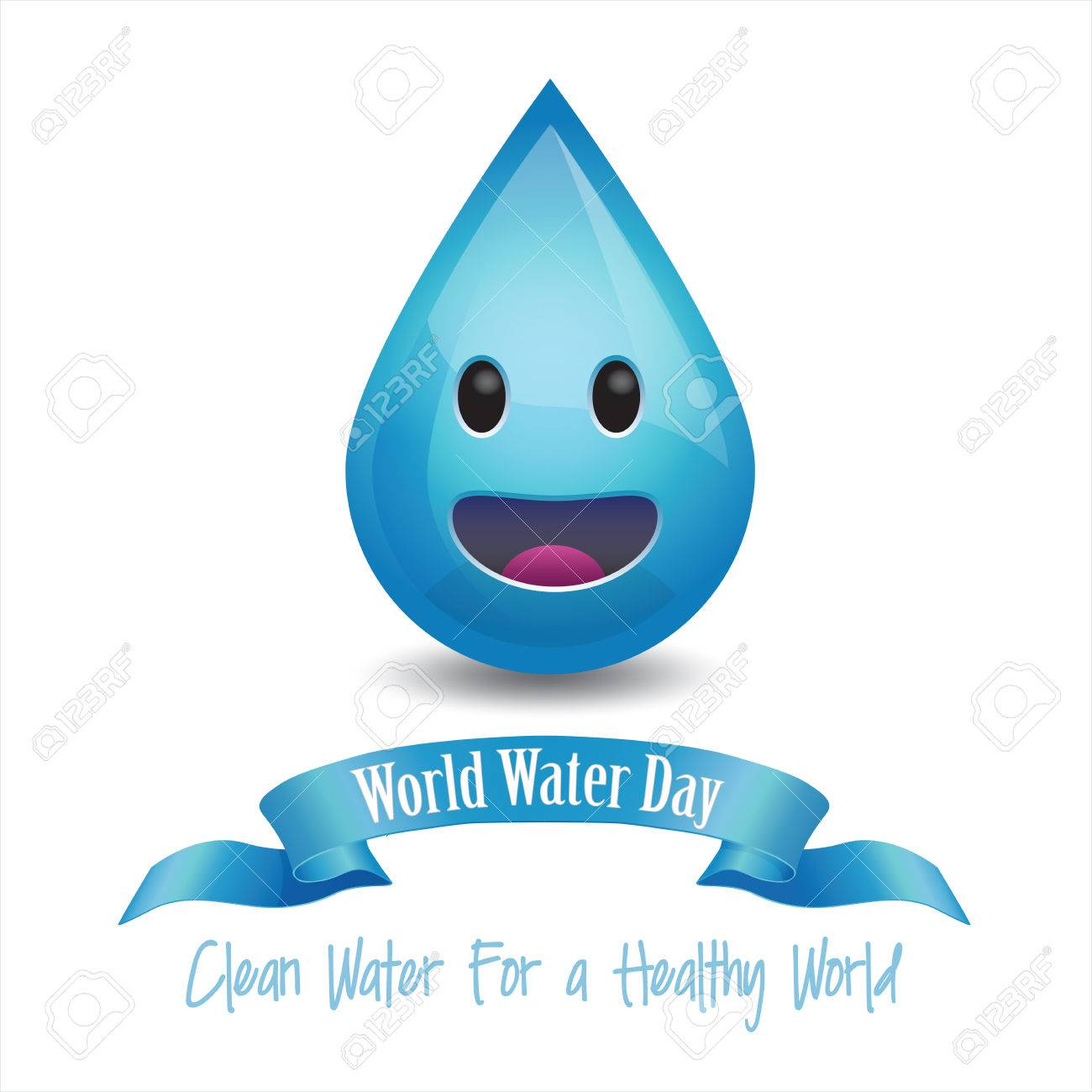 Blue Smiley 3d Happy Face Water Stock Illustration 10128874 ...