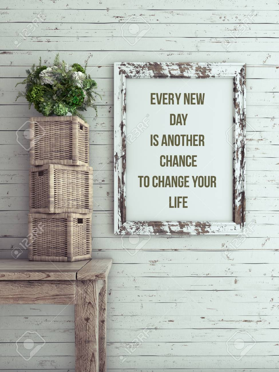 Inspirational Quote On Picture Frame. Every New Day Is Another ...