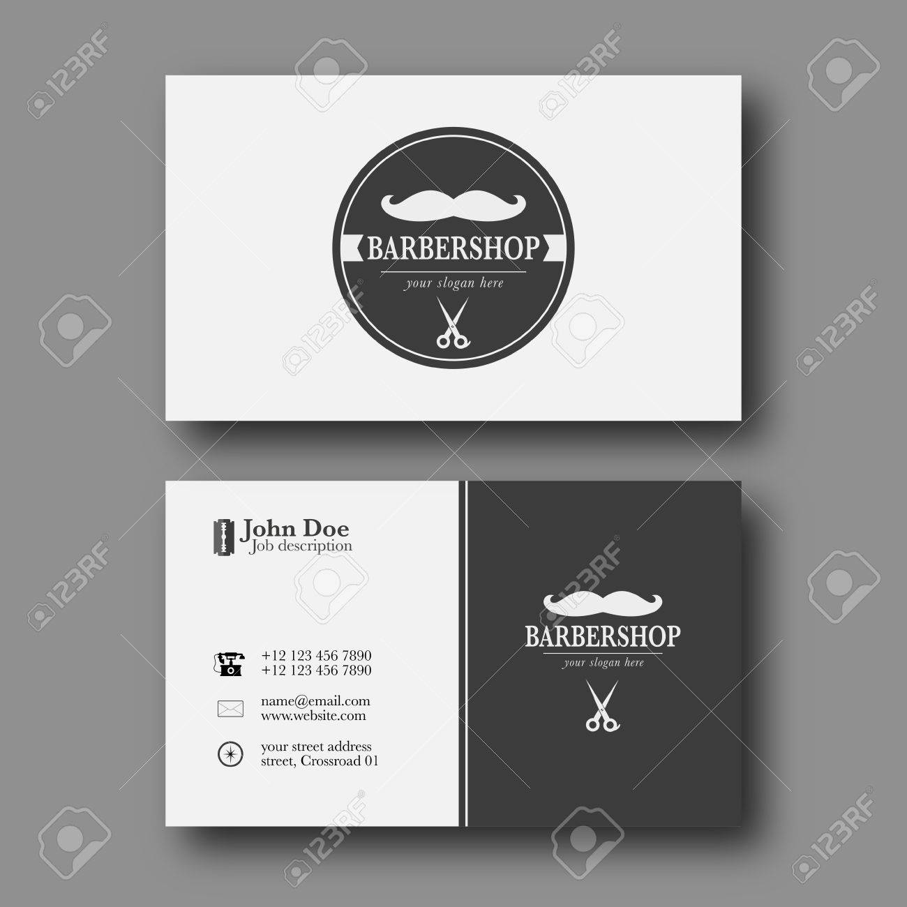 Abstract elegant barber shop business card template royalty free abstract elegant barber shop business card template stock vector 65834457 wajeb Choice Image