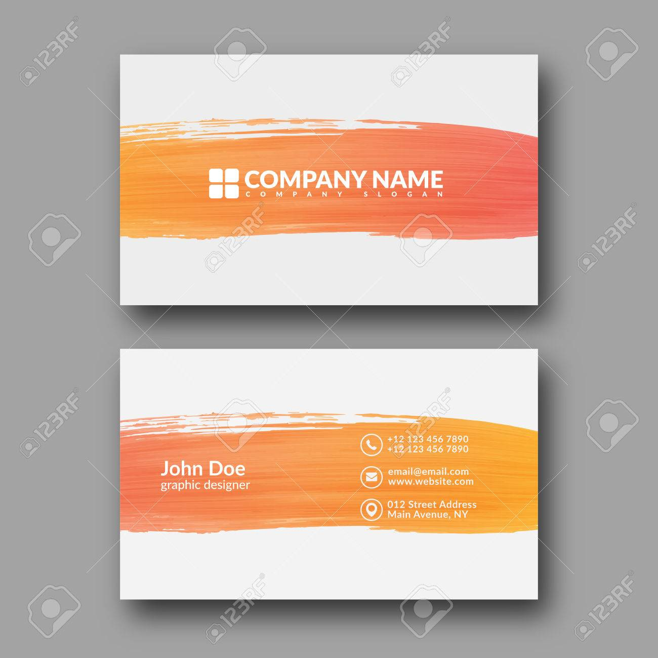Abstract paint brush business card template royalty free cliparts abstract paint brush business card template stock vector 67763036 wajeb Image collections