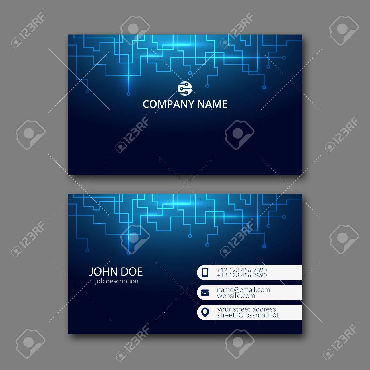 Elegant business card design template for creative design. - 67780553